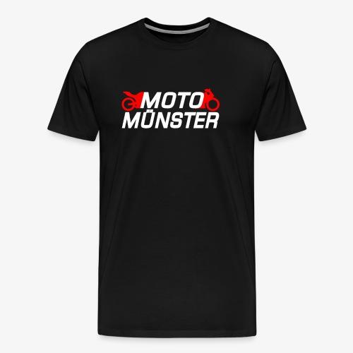 MotoMünster Logo mit weißer Schrift - Männer Premium T-Shirt