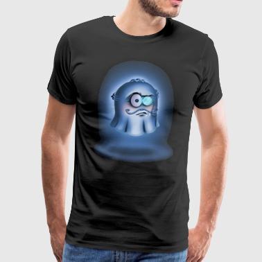 Geist mit Monokel - Männer Premium T-Shirt