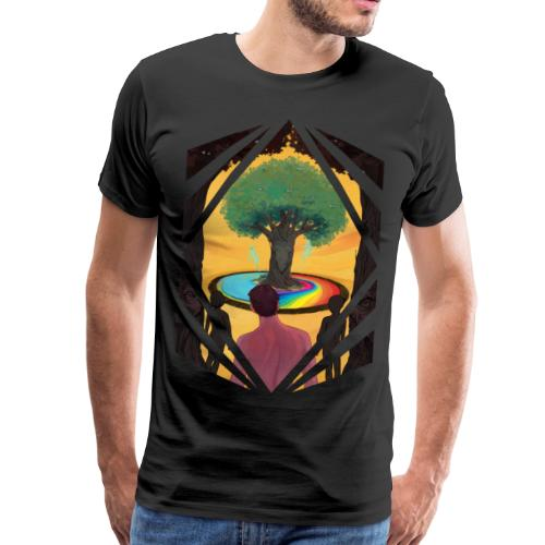 Traveller at the Tree of Creativity - Men's Premium T-Shirt