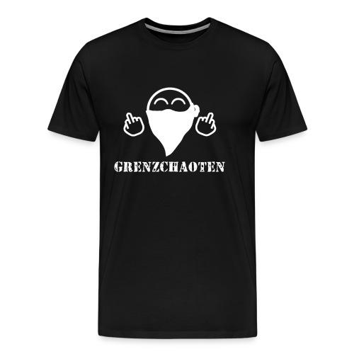 Grenzchaoten Logo Weiß - Männer Premium T-Shirt