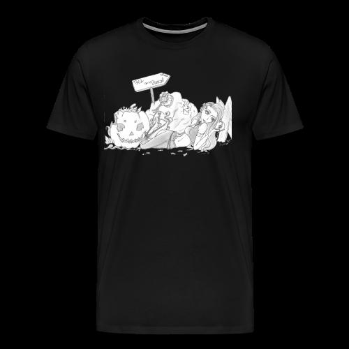 Trick or Treat S/W - Männer Premium T-Shirt