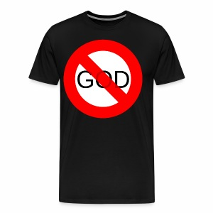 Znak zakazu - No God - Koszulka męska Premium