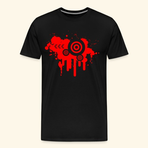Grunge Vector Red! - Men's Premium T-Shirt
