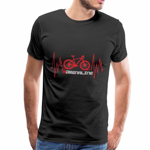 Adrenaline Biker- Mountainbike mit Herzlinie - Männer Premium T-Shirt
