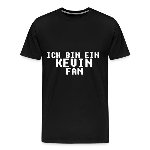 ICH BIN EIN KEVIN FAN LOGO WEIß - Männer Premium T-Shirt