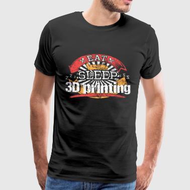 Essen Schlafen 3D Drucken - Männer Premium T-Shirt