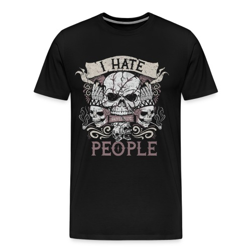I hate people skull shirt - Men's Premium T-Shirt