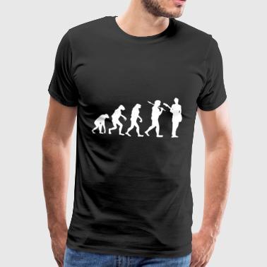 Evolution Gitarre Gitarrist Musik Geschenk - Männer Premium T-Shirt