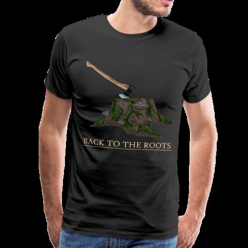 Back to the Roots (Zurück zu den Wurzeln) - Männer Premium T-Shirt