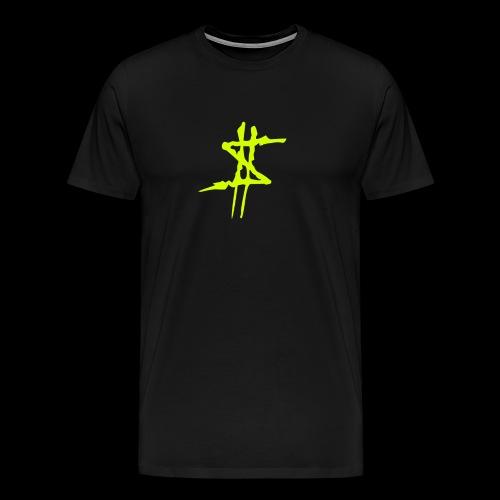 Dollarsign yellow - Premium-T-shirt herr