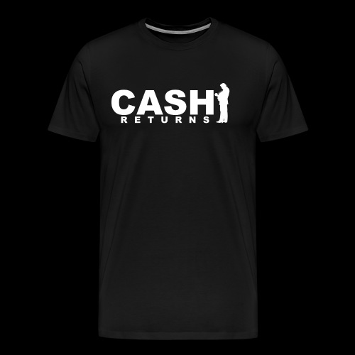 CASH RETURNS LOGO (White) - Men's Premium T-Shirt