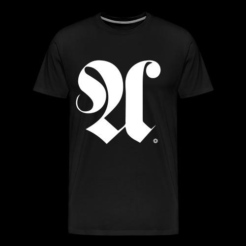 ALPHABET x A x BEARING x WHITE - Männer Premium T-Shirt