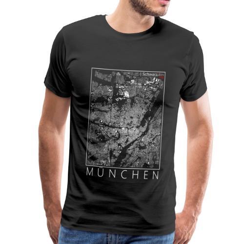 Schwarzplan München Figureground Diagram - Männer Premium T-Shirt