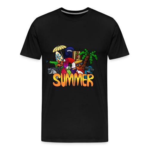 Summer Doodle Shirt - Männer Premium T-Shirt