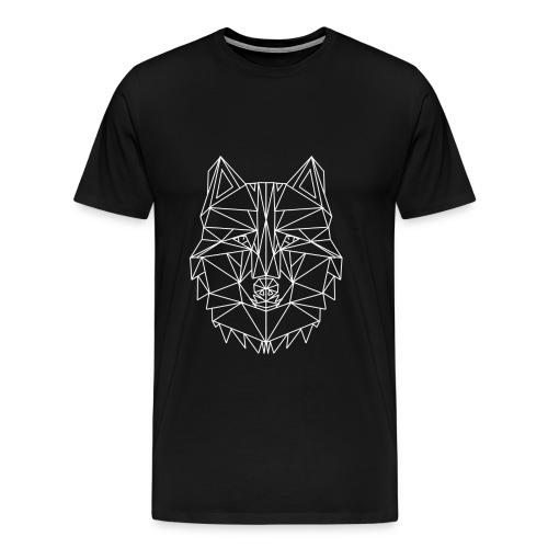 Lone Wolf Geometric - Männer Premium T-Shirt