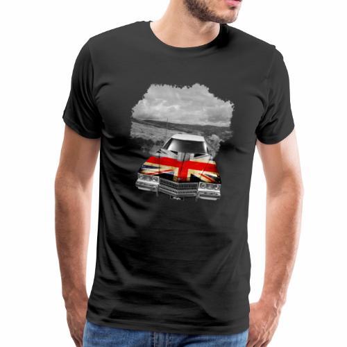Oldtimer with British flagg. - Männer Premium T-Shirt