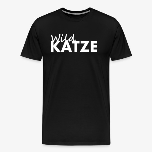 WildKATZE - Katzenshirt - VivoInDiem - Männer Premium T-Shirt
