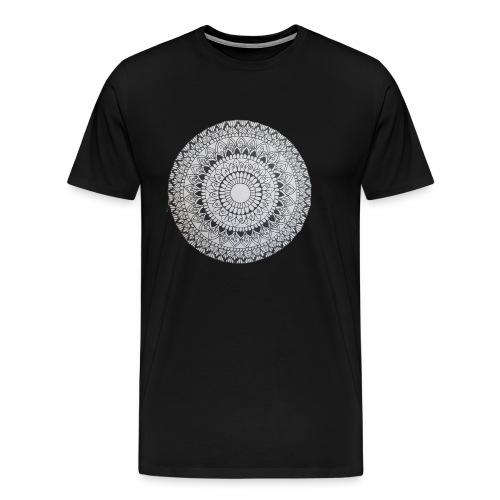 Mandala Black and White - Männer Premium T-Shirt