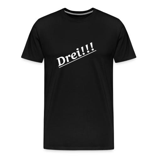 Drei!!! Lieblings Zahl! - Männer Premium T-Shirt