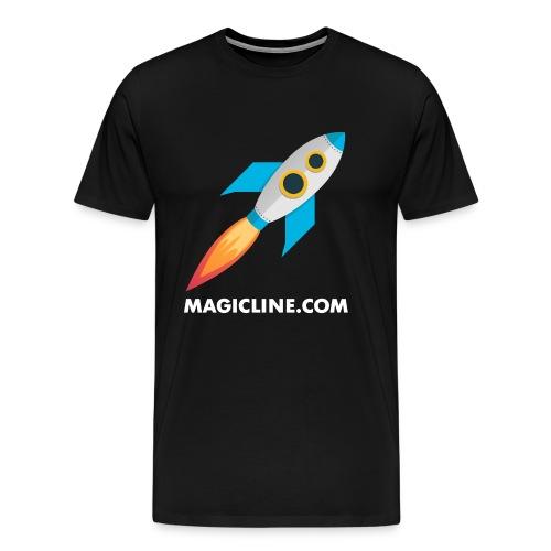 Rocket Magicline com Typo weiss DIN A3 - Männer Premium T-Shirt
