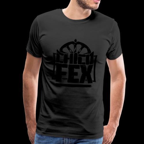 chicofex logo schwarz4000px ai - Männer Premium T-Shirt