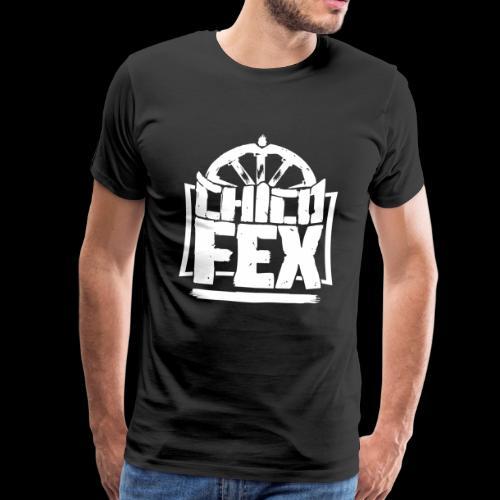 chicofex logo weiss4000px ai - Männer Premium T-Shirt