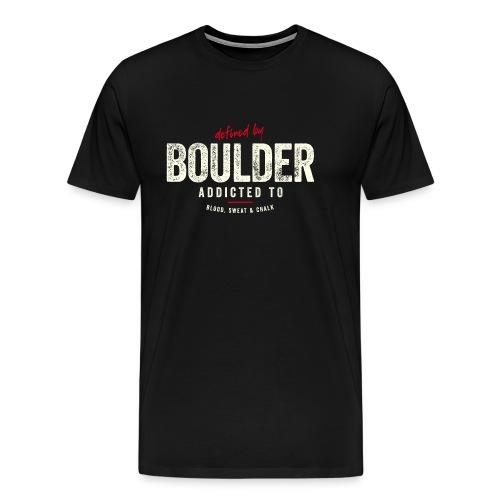 defined by boulder – Geschenkidee - Männer Premium T-Shirt
