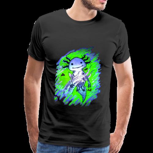 Axolotl - Miesten premium t-paita