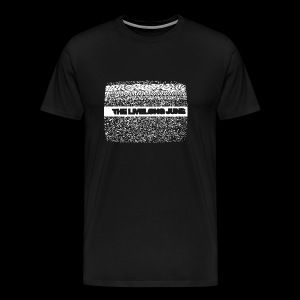The Livelong June - Logo on static noise/analog TV - Premium-T-shirt herr