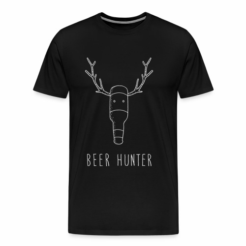 Beer Hunter - White Trophy - Special edition. - Men's Premium T-Shirt
