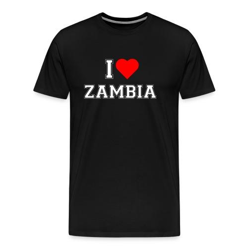 I love Zambia - Männer Premium T-Shirt