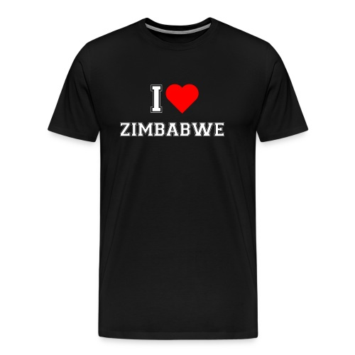 I love Zimbabwe - Männer Premium T-Shirt