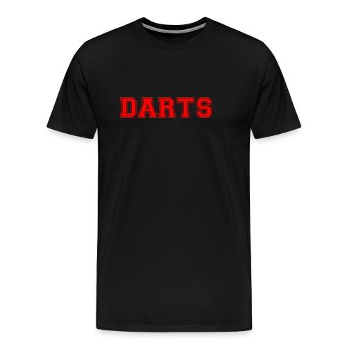 DARTS - Schriftzug in rot - Männer Premium T-Shirt