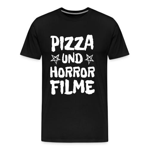 Pizza und Horrorfilme für Film Nerds und Hipster - Männer Premium T-Shirt