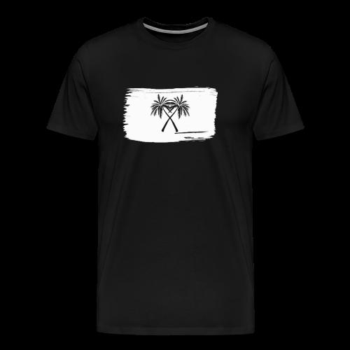 PalmX White paint - Premium-T-shirt herr