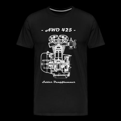 AWO 425 - Suhler Dampfhammer - white - Männer Premium T-Shirt