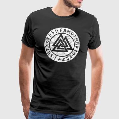 Valknut Vikings Odin Thor Vintage Symbol Zeichen - Männer Premium T-Shirt