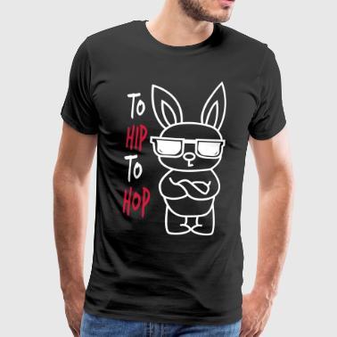 Hip hop Pääsiäinen - Miesten premium t-paita