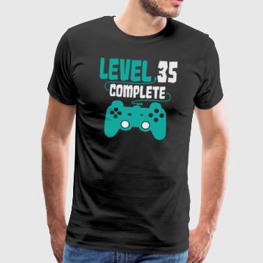 35. Geburtstag Gamer Level 35 complete Geschenk - Männer Premium T-Shirt
