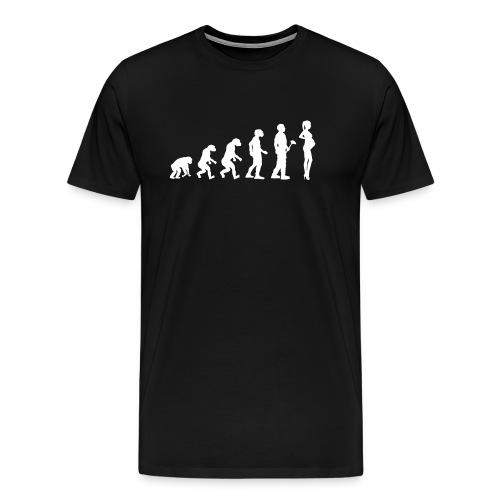 Evolutionstheorie Schwanger - Männer Premium T-Shirt