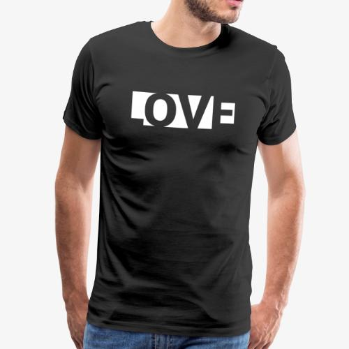 Love with negative space between letters - Männer Premium T-Shirt