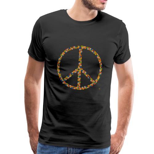 Peace Flowers - Männer Premium T-Shirt