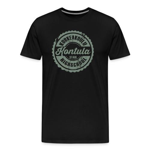 06V-KONTULAN KORKEAKOULU - Tekstiilit ja lahjat - Miesten premium t-paita