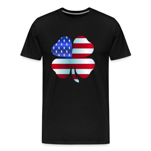 Irish American shamrockSt Patrick's Day Design - Men's Premium T-Shirt
