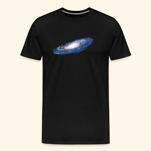 galaxy here are we (nasa) - Mannen Premium T-shirt