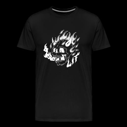 ★ burning skull ★ - Männer Premium T-Shirt