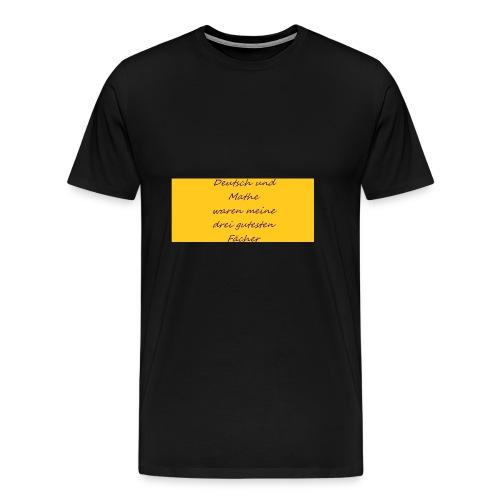 Deutsch und Mathe - Männer Premium T-Shirt
