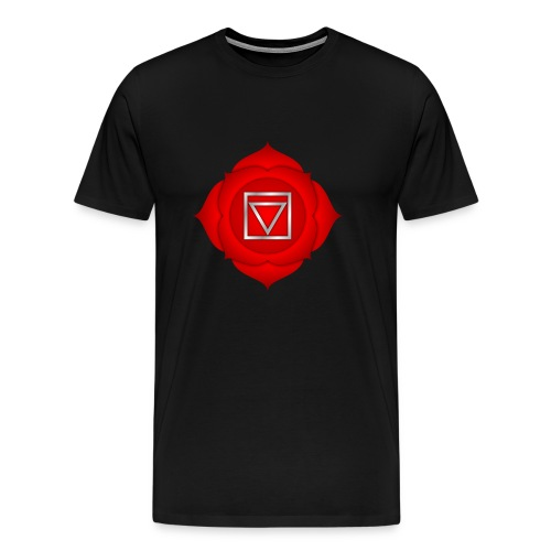 1. Chakra Muladhara - Männer Premium T-Shirt