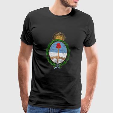 Argentinische Wappen Argentinien Symbol - Männer Premium T-Shirt