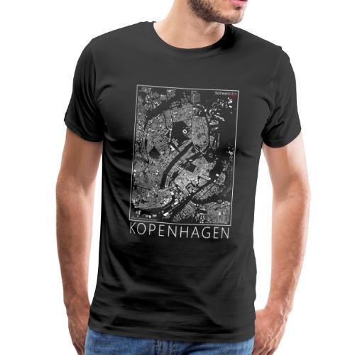 Schwarzplan Kopenhagen Figureground Diagram - Männer Premium T-Shirt